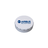 White Round Peppermint Clicker Tin-Airbus Helicopters