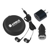 3 in 1 Black Audio Travel Kit-Airbus Helicopters