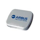 Silver Rectangular Peppermint Tin-Airbus Helicopters