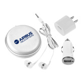 3 in 1 White Audio Travel Kit-Airbus Helicopters