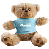 Plush Big Paw 8 1/2 inch Brown Bear w/Light Blue Shirt-Airbus Helicopters