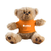 Plush Big Paw 8 1/2 inch Brown Bear w/Orange Shirt-Airbus Helicopters