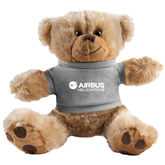Plush Big Paw 8 1/2 inch Brown Bear w/Grey Shirt-Airbus Helicopters