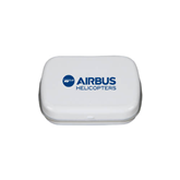 White Rectangular Peppermint Tin-Airbus Helicopters