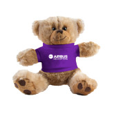 Plush Big Paw 8 1/2 inch Brown Bear w/Purple Shirt-Airbus Helicopters