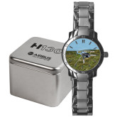 Mens Stainless Steel Fashion Watch-H130 In Front of Mountain