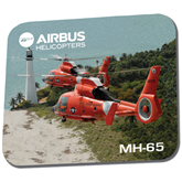 Full Color Mousepad-USCG MH65 Duet Near Ocean
