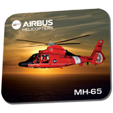 Full Color Mousepad-USCG MH65 In Sunset Over Ocean