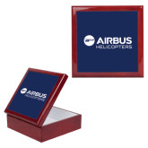Red Mahogany Accessory Box With 6 x 6 Tile-Airbus Helicopters