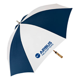 62 Inch Navy/White Umbrella-Airbus Helicopters