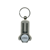 Silver Divot Repair Key Tag-Airbus Helicopters Wordmark Engraved