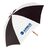 62 Inch Black/White Umbrella-Airbus Helicopters