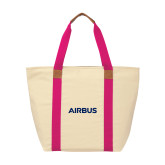 Natural/Tropical Pink Saratoga Tote-Airbus