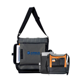 Impact Vertical Grey Computer Messenger Bag-Airbus Helicopters