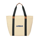 Natural/Black Saratoga Tote-Airbus