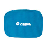 Large Aqua Waffle Cosmetic Bag-Airbus Helicopters