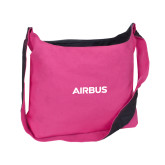 Cotton Canvas Tropical Pink/Charcoal Sling Bag-Airbus