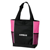 Black/Tropical Pink Panel Tote-Airbus