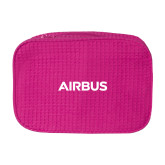 Large Hot Pink Waffle Cosmetic Bag-Airbus