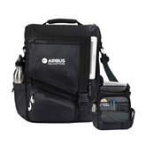 Momentum Black Computer Messenger Bag-Airbus Helicopters