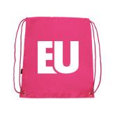 Pink Drawstring Backpack-EU