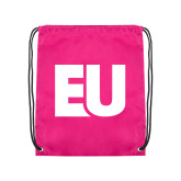 Pink Drawstring Backpack-EU