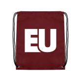 Maroon Drawstring Backpack-EU