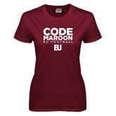 Ladies Maroon T Shirt-Code Maroon