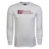 White Long Sleeve T Shirt-Primary Mark Flat
