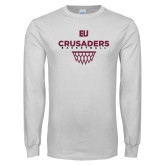 White Long Sleeve T Shirt-Basketball Sharp Net