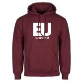 Maroon Fleece Hoodie-Soccer