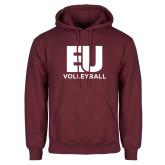 Maroon Fleece Hoodie-Volleyball
