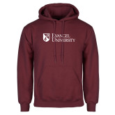 Maroon Fleece Hoodie-Evangel University Stacked