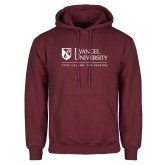 Maroon Fleece Hoodie-Evangel University - Tagline