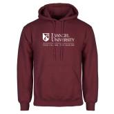 Maroon Fleece Hoodie-Evangel University - Tagline
