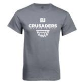 Charcoal T Shirt-Basketball Net Design
