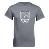 Charcoal T Shirt-Soccer Shield Design
