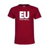 Youth Maroon T Shirt-Football