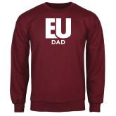 Maroon Fleece Crew-Dad