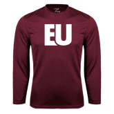 Performance Maroon Longsleeve Shirt-EU