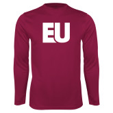 Performance Maroon Longsleeve Shirt-EU