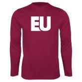Syntrel Performance Maroon Longsleeve Shirt-EU