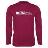 Performance Maroon Longsleeve Shirt-AGTS Non Formal No Shield