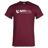 Maroon T Shirt-AGTS - Tagline