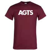 Maroon T Shirt-AGTS Letters
