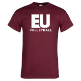 Maroon T Shirt-Volleyball
