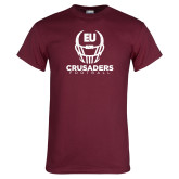 Maroon T Shirt-Football Helmet Design