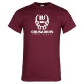 Maroon T Shirt-Football Helmet Design