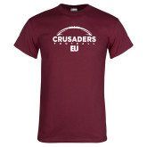 Maroon T Shirt-Football Ball Design