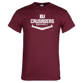 Maroon T Shirt-Baseball Plate